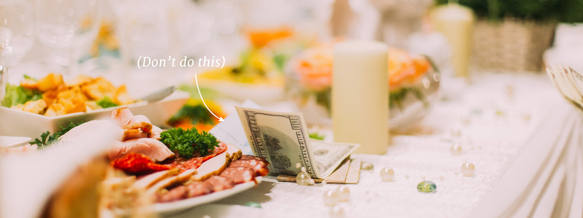 how much cash to give a bride/groom