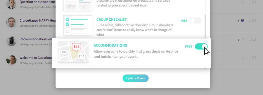 activating the accommodation widget